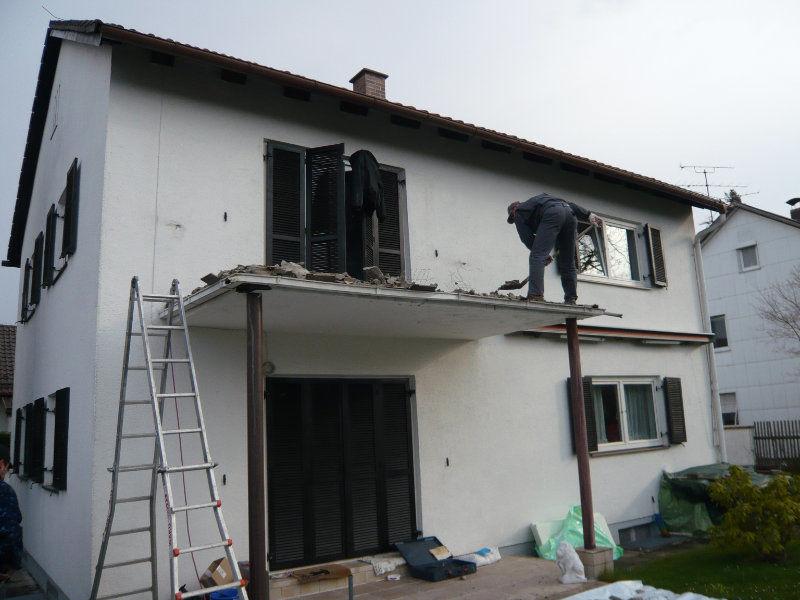 Balkonboden Abbruch