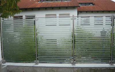 Sichtschutzwand Glas
